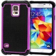 Housses et coques anti-chocs violet en silicone, caoutchouc, gel pour téléphone mobile et assistant personnel (PDA) Samsung