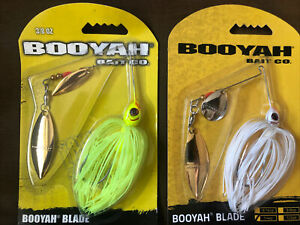 BOOYAH Spinnerbait - 2 Different Lures - Tandem Blade - New!