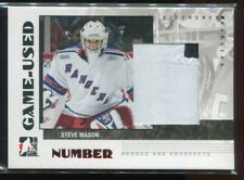 2007-08 ITG Heroes & Prospects Numbers 65 Steve Mason Rookie Patch /20