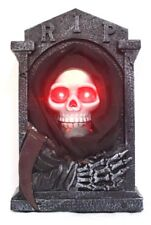 Halloween Animated Tombstone Flashing Eyes And Sound