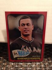 2014 Topps Heritage Target Red Border Giancarlo Stanton Miami Marlins SP