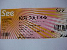 OCEAN COLOUR SCENE - 2011 CONCERT TICKET