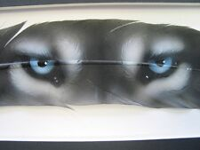 Blue Wolf Eyes - Russ Abbott Hand Painted Feather- COMMISSIONED