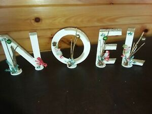VINTAGE CHRISTMAS  JAPAN CHIRSTMAS LETTERS SPELLS OUT  NOEL - 6 INCHES TALL
