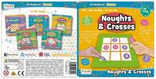 Fiesta Crafts STICKABOUTS GAME - NOUGHTS AND CROSSES Reusable Sticker Toy BN
