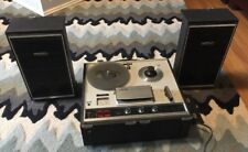 Sony Tapecorder TC-252 Reel To Reel Analog Recorder w/ speakers Untested