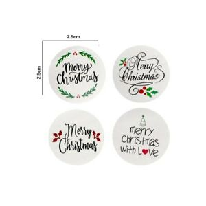 50pcs Merry Christmas Sticker Thank you business Sticker Christmas Gift Seal