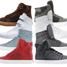 Supra Mens Trainers Hi Top Footwear Leather Canvas Lace Suede Ellington Vaider