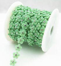 4YD Pearl Crystal Gem Chain Rhineston Sew On Trims Wedding Dress Decoration