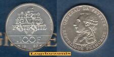 100 Francs Commémorative 1987 La Fayette SUP