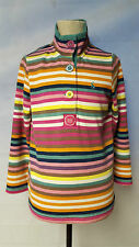 Joules Cowdray Multi Coloured Long sleeve stripe top Size 6
