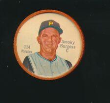 1962 Shirriff Canadian Plastic Coin Baseball RARE #114 Smoky Burgess Pirates