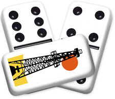 Americana Series Oil Derrick Design Double six Professional size Dominoes