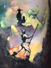 Frank FRAZETTA Silver Warrior Fantasy Offset Litho Print