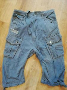 G-Star Cargo Shorts Bermuda Herren Größe 30 Kurze Hose blau