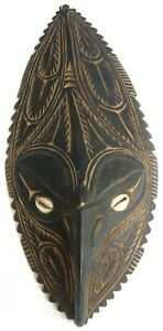 Vintage/Antique PNG Sgraffito Face Mask.  Tribal Wall Hanging  c.1960s