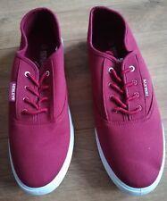 BNWT HENLEYS Canvas Shoes Pumps Trainers Burgundy Size Uk 11 Mens