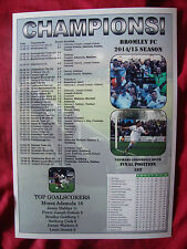 Bromley FC Vanarama Conference South champions 2015 - souvenir print