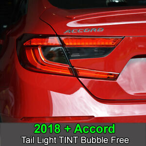 Crux Moto Tail Light Tint Overlay 20% Fits Accord 2018 - 2020 No Bubbles!