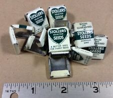 Group Of 10 Metal Bag Tags/Clips  Stoller Seed Hicksville, Ohio INVP006