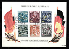 DDR 1955 Block 13, Friedrich. Engels, Rundstempel 16.5.56