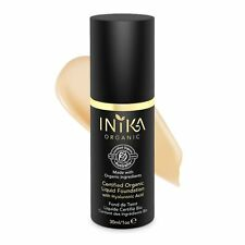 INIKA Beige Organic Liquid Foundation with Hyaluronic Acid - RRP $65