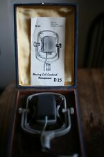 AKG D25 Classic Dynamic Microphone Boxed With Paperwork