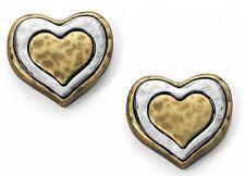 NWT Brighton ART & SOUL Always in My Heart Two Tone Mini Post Earrings MSRP $28