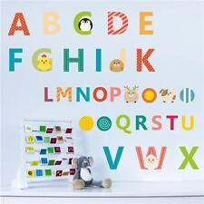 DIY 26 A-Z Alphabet Letters Animals Wall Stickers Decals Kids Nursery Decor JJ