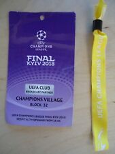 TICKET Pass & Wristband UCL Final 26/5/2018 Real Madrid vs Liverpool FC