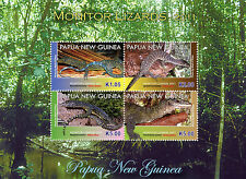 Papua New Guinea 2011 MNH Monitor Lizards 4v MS Mangrove Monitor Reptiles Stamps