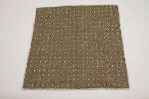 NWT Brunello Cucinelli Mens Silk-Cotton 2Tone Polka-Dot Print Pocket Square A196