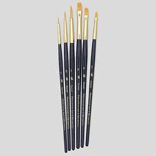 Princeton Arte conjunto de 6 Cepillos Pelo Sintético Pintura al Óleo Acrílico Acuarela 9137
