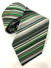 Paul Smith Multi-Rayures Cravate Très Rare Lame de 8cm Fabriqué en Italie