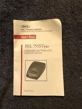 """BEL 755STi+ never used - """"Undetectable"""" Super Wideband Ka Radar/Laser Detector"""