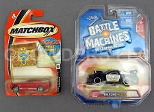 Jada Battle Machine 06 Police Cruiser & Matchbox Ford Mustang GT Concept DieCast