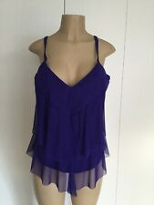 Sunsets Sapphire Ava Tiered Tankini Top Size 40DD