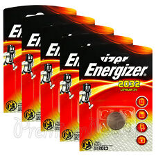 5 x Energizer Lithium CR2032 batteries 3V Coin cell DL2032 Alarms Watch EXP:2023