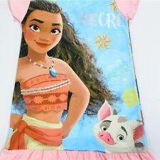 New Pink Cotton Moana Dress Girls Night Gown Size 4 Short Sleeve