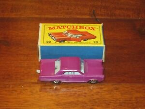 Matchbox Lesney Superfast Pontiac GP Sports Coupe - Purple - Series 22 W/ Box