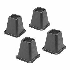 Bed Risers 4 Count Durable Molded Plastic Home Dorm Room Underbed Storage