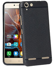 Dotted Designed Soft Rubberised Back Case Cover For Lenovo Vibe K5 Plus
