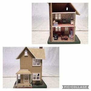 "Artist CAROLE CREGER Micro Miniature Dollhouse 4""x3"" 1:144 Full Of Furniture"