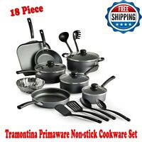 Tramontina Primaware 18 Piece Non-stick Cookware Set Steel Gray, Dishwasher-safe