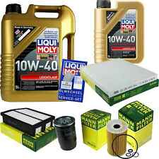 Inspection Kit Filter LIQUI MOLY Oil 6L 10W-40 for Hyundai IX35 Lm 1.7 Crdi