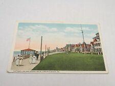 G420 Postcard Cottage Line & Board Walk Virginia Beach VA Virginia