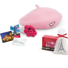 American Girl Grace Thomas WELCOME GIFTS beret cookies & macaroons postcards