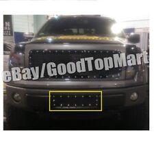 For 2009 10 11 12 13 2014 FORD F150 F-150 Black Mesh Rivets Bumper Grille Insert