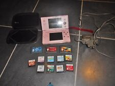 PINK NINTENDO DS LITE NO BOX & 9 DS GAMES  AND 3 GBA GAMES