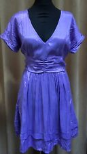 Women's ASOS Christmas Party Purple Dress Size12 Great Condition